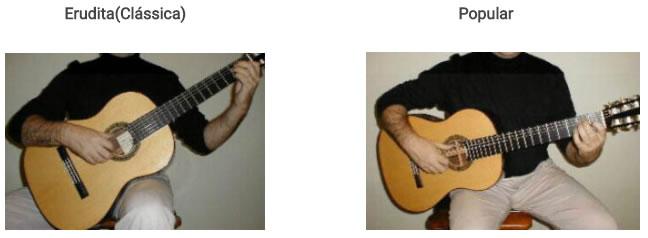 Como segurar o violão
